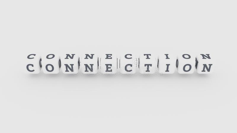 Palabra clave de las TIC del ordenador de la conexión Para la p?gina web, el dise?o gr?fico, la textura o el fondo stock de ilustración