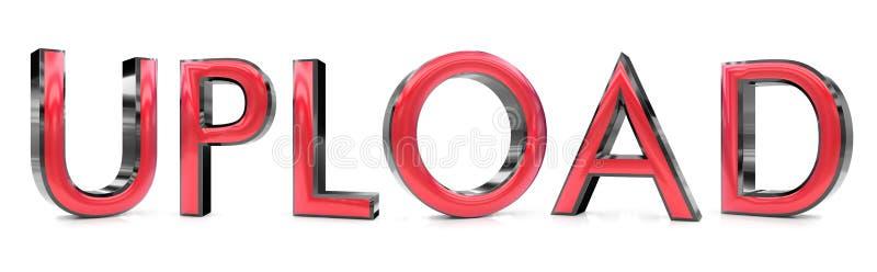 Palabra de la carga por teletratamiento 3d ilustración del vector