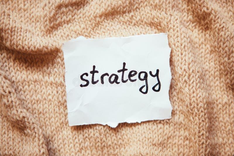 Palabra de la estrategia en el Libro Blanco imagenes de archivo