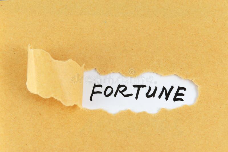 Palabra de la fortuna fotos de archivo libres de regalías