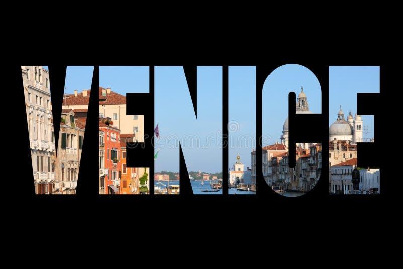 Palabra de la muestra de Venecia fotos de archivo