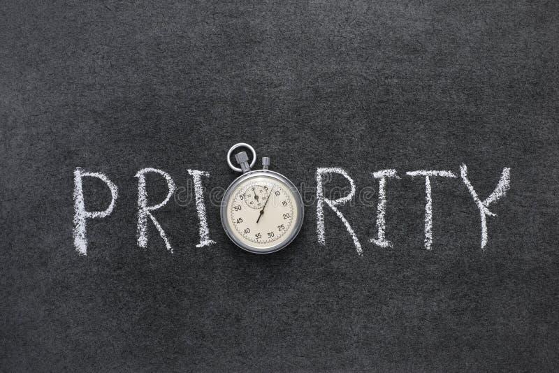 Palabra de la prioridad foto de archivo libre de regalías