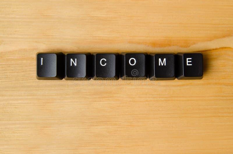 Palabra de la renta imagenes de archivo