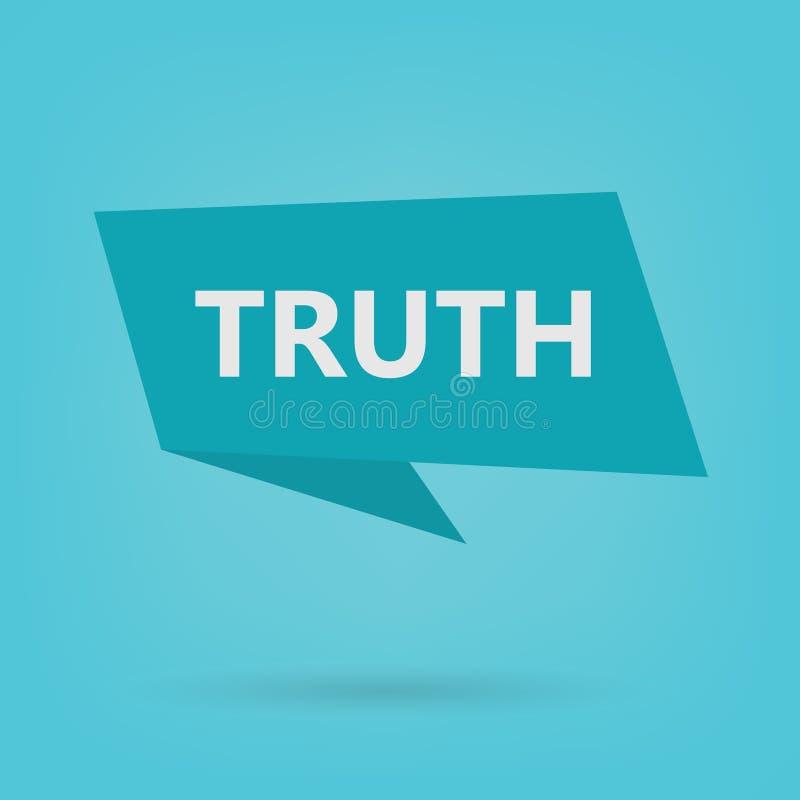 Palabra de la verdad en etiqueta engomada ilustración del vector