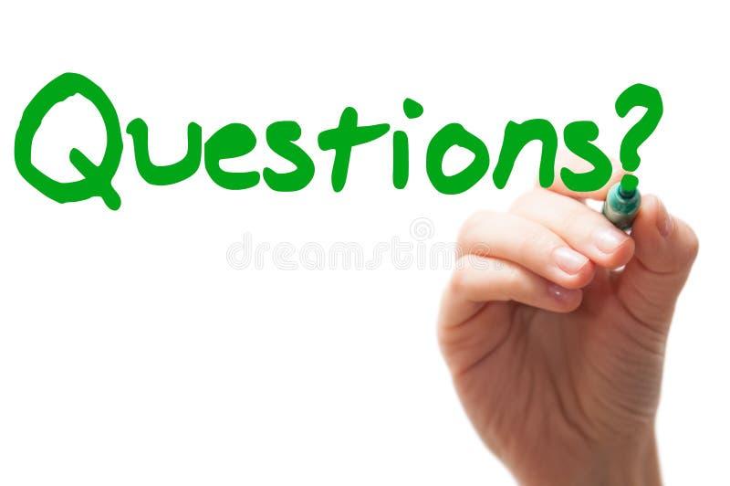 Palabra de las preguntas fotos de archivo