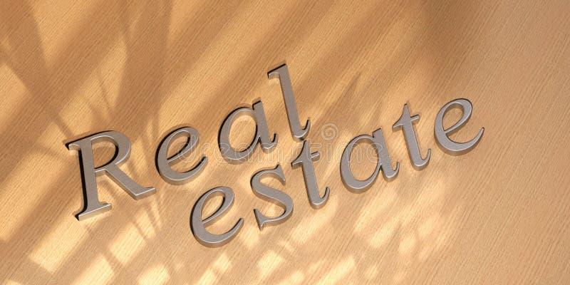 Palabra de las propiedades inmobiliarias ilustración del vector