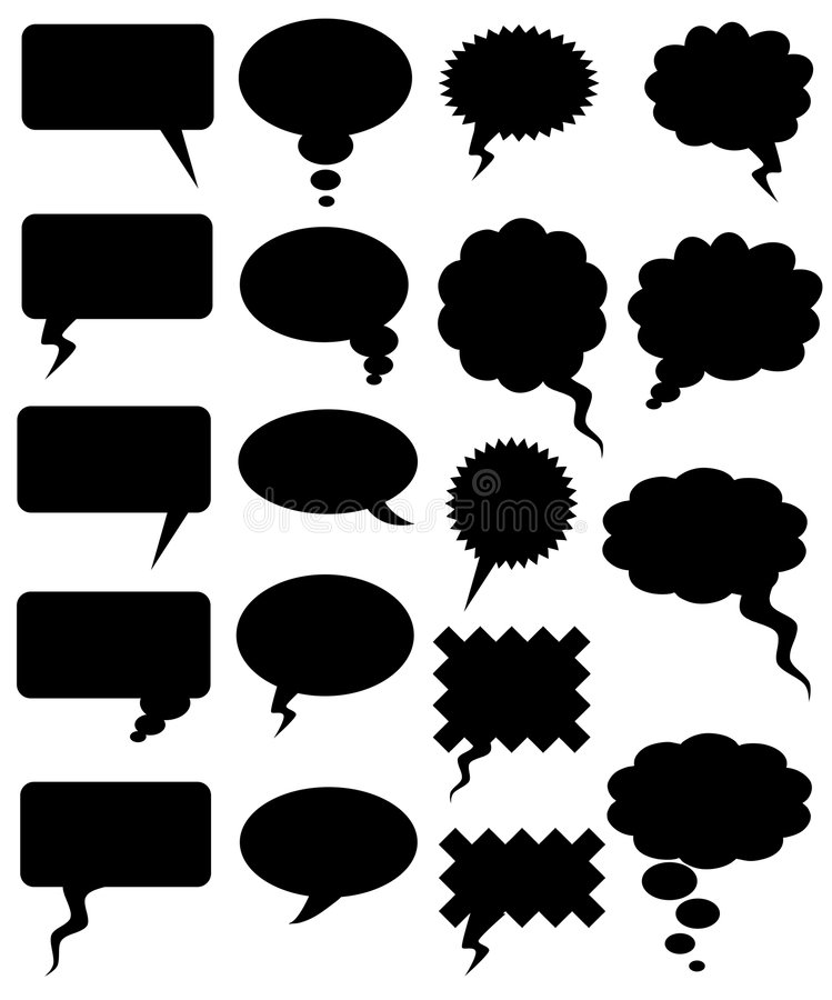 Palabra de los tebeos stock de ilustración