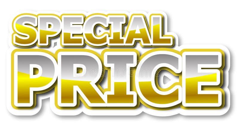 Palabra de oro del precio especial stock de ilustración