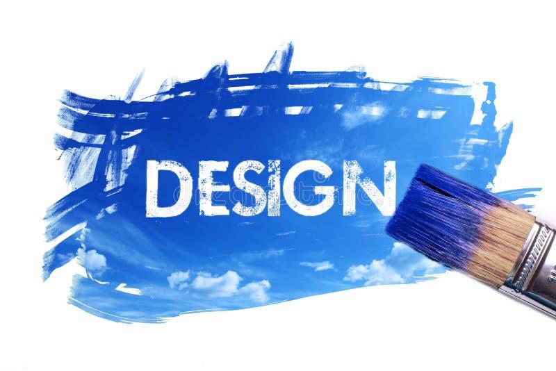 Palabra de pintura del diseño libre illustration