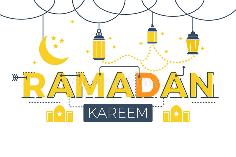 Palabra de Ramadan Kareem libre illustration