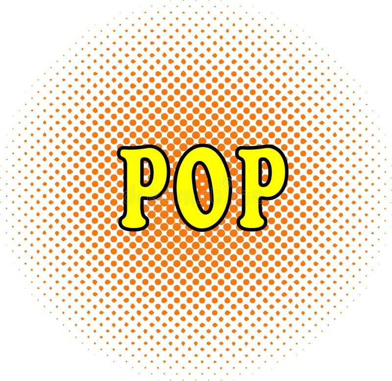 Palabra de semitono POP del wirhn del fondo del punto en estilo del arte pop fotos de archivo