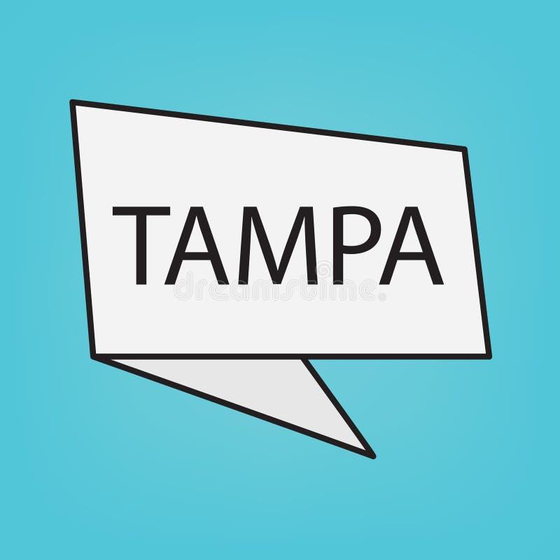Palabra de Tampa en una etiqueta engomada libre illustration