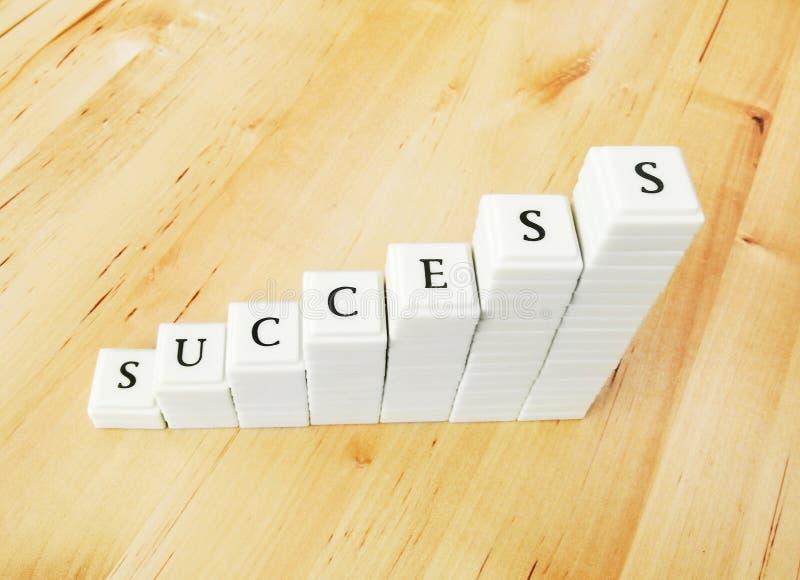 Palabra del éxito imagen de archivo