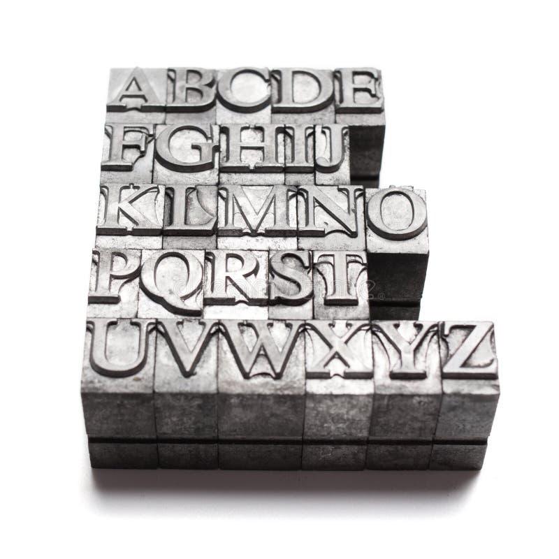 Palabra del ABC, prensa de copiar imagen de archivo libre de regalías