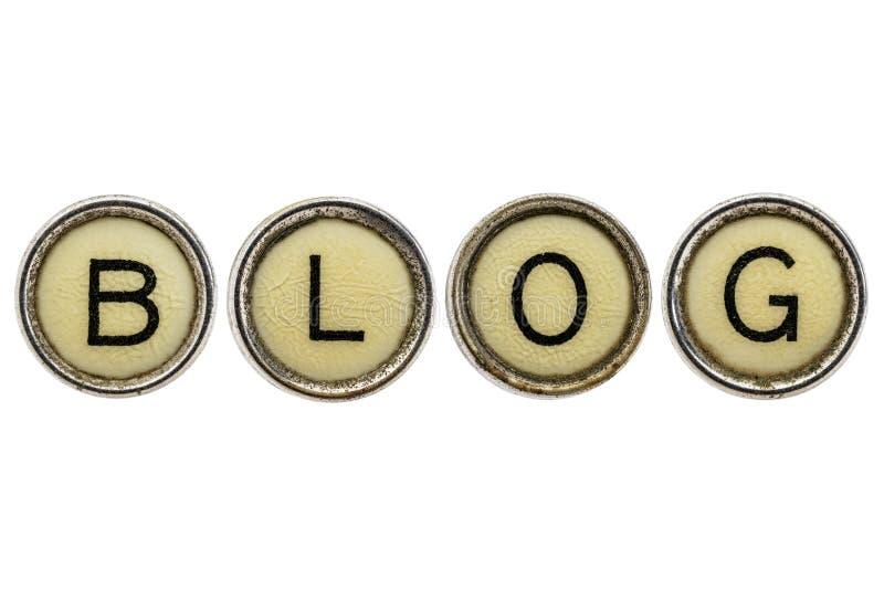 Palabra del blog en llaves de la máquina de escribir foto de archivo