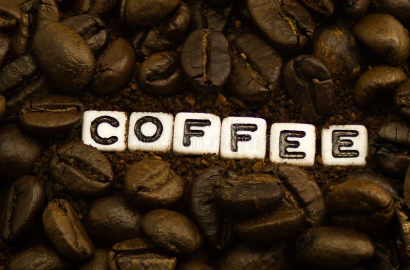 Palabra del café imágenes de archivo libres de regalías