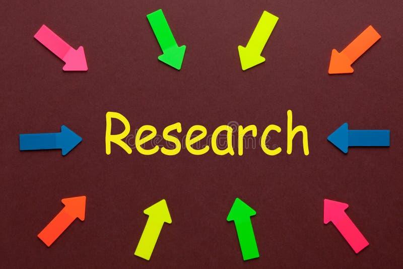 Palabra del concepto de la investigación stock de ilustración
