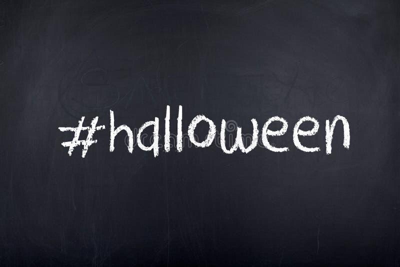 Palabra del concepto del fondo de Halloween foto de archivo