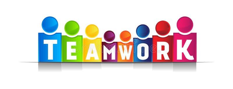 Palabra del concepto del trabajo en equipo libre illustration