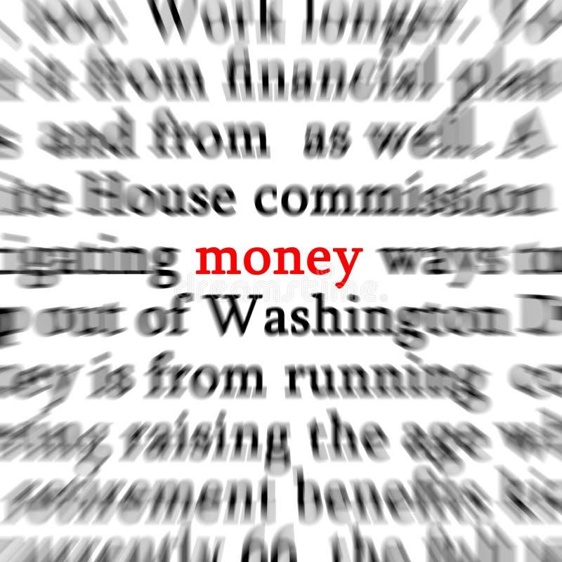 Palabra del dinero fotos de archivo libres de regalías