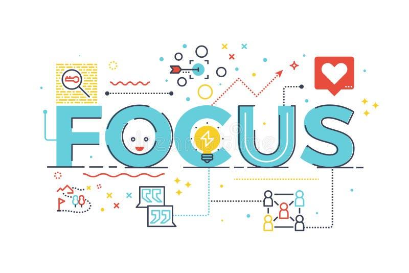 Palabra del foco para el concepto del negocio ilustración del vector