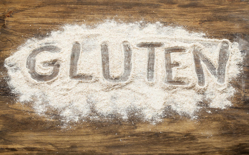 Palabra del gluten imagenes de archivo