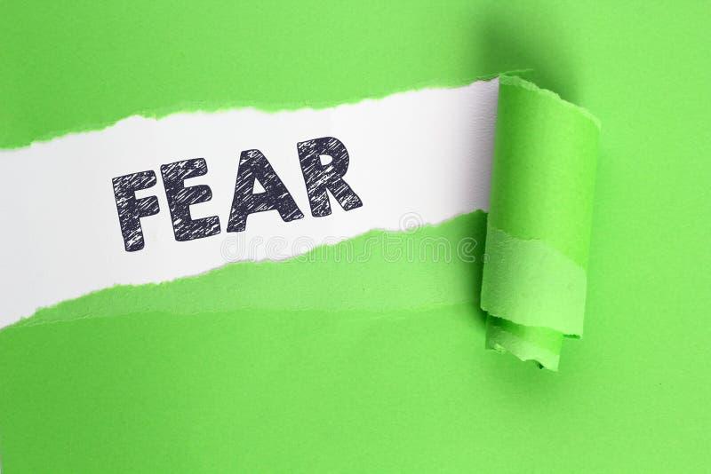Palabra del miedo fotos de archivo