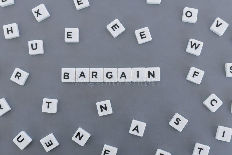Palabra del negocio hecha de palabra cuadrada de la letra en fondo gris fotos de archivo libres de regalías