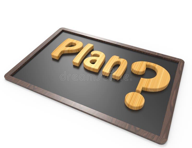 Palabra del plan con el signo de interrogación libre illustration