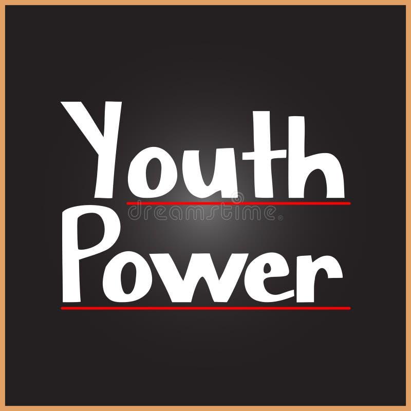 Palabra del poder de juventud en conceptos de la educación, de la inspiración y de la motivación libre illustration