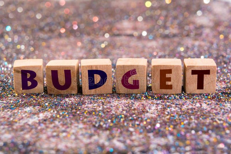 palabra del presupuesto imagenes de archivo