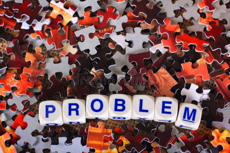 Palabra del problema foto de archivo libre de regalías