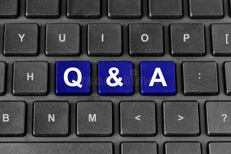 Download Palabra Del Q&A O De Las Preguntas Y De Las Respuestas En El Teclado Foto de archivo - Imagen de cuestionario, comunicación: 42433312