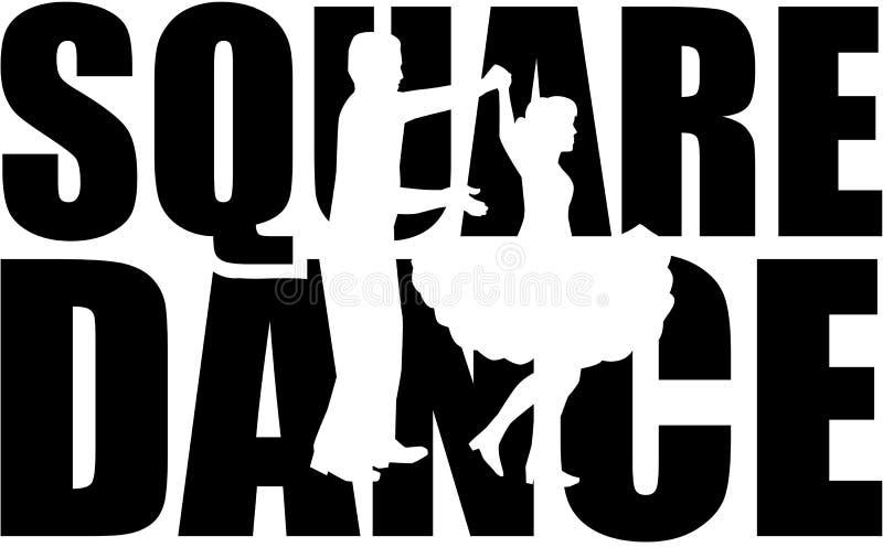 Palabra del square dance con el recorte libre illustration