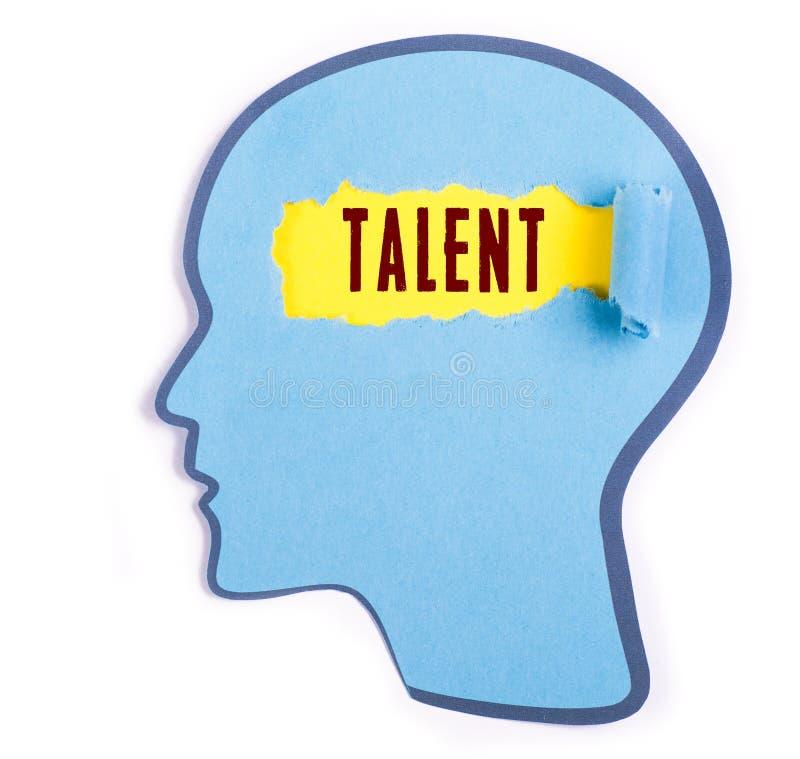 Palabra del talento en la cabeza de la persona fotografía de archivo libre de regalías