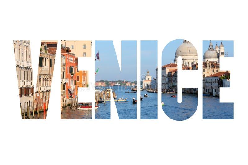 Palabra del texto de Venecia foto de archivo libre de regalías