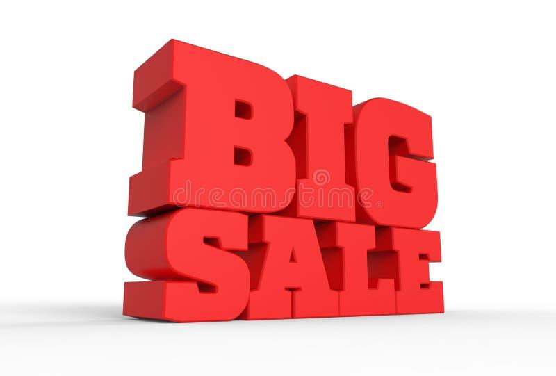 palabra grande de la venta 3d aislada sobre el fondo blanco 3D que ilustra libre illustration