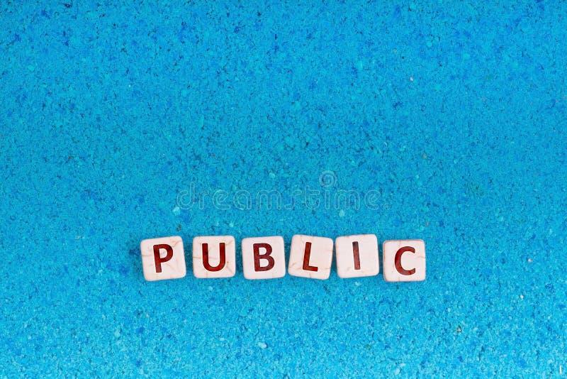 Palabra pública en piedra fotos de archivo