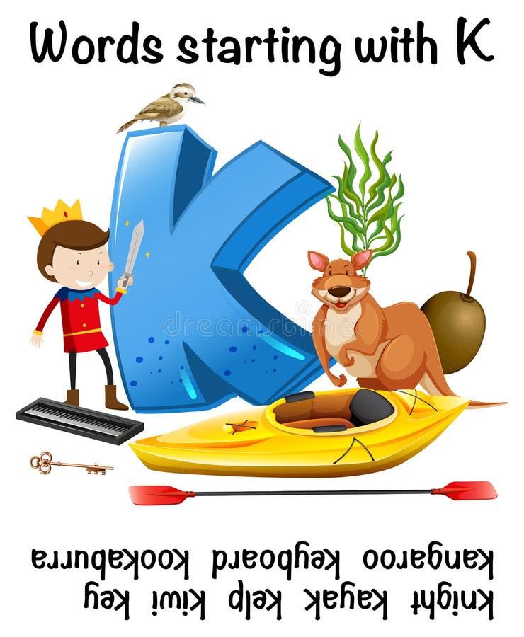 Palabra que comienza con la letra K libre illustration