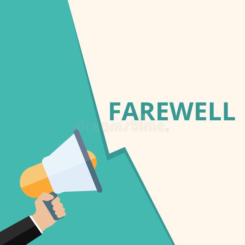 Palabra que escribe adiós del texto libre illustration