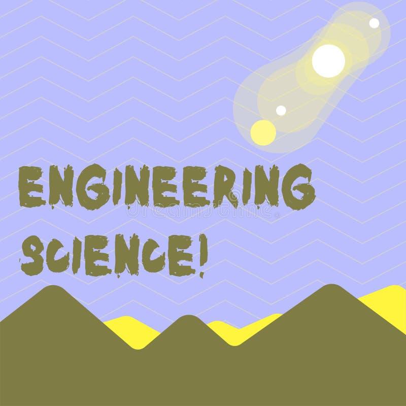 Palabra que escribe ciencia de ingenier?a del texto Concepto del negocio para el trato con la base f?sica y matem?tica de la inge ilustración del vector