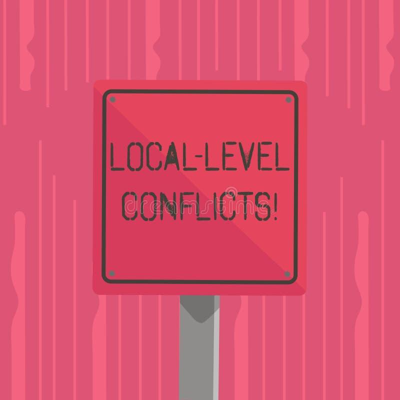 Palabra que escribe conflictos del nivel local del texto E libre illustration