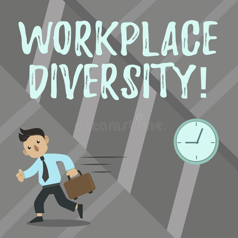 Palabra que escribe diversidad del lugar de trabajo del texto Concepto del negocio para la orientación sexual de diversa de la ra libre illustration
