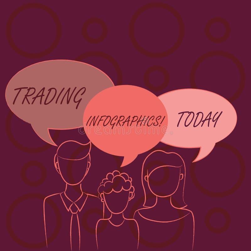 Palabra que escribe el comercio Infographics del texto Concepto del negocio para la representación visual de la familia comercial ilustración del vector