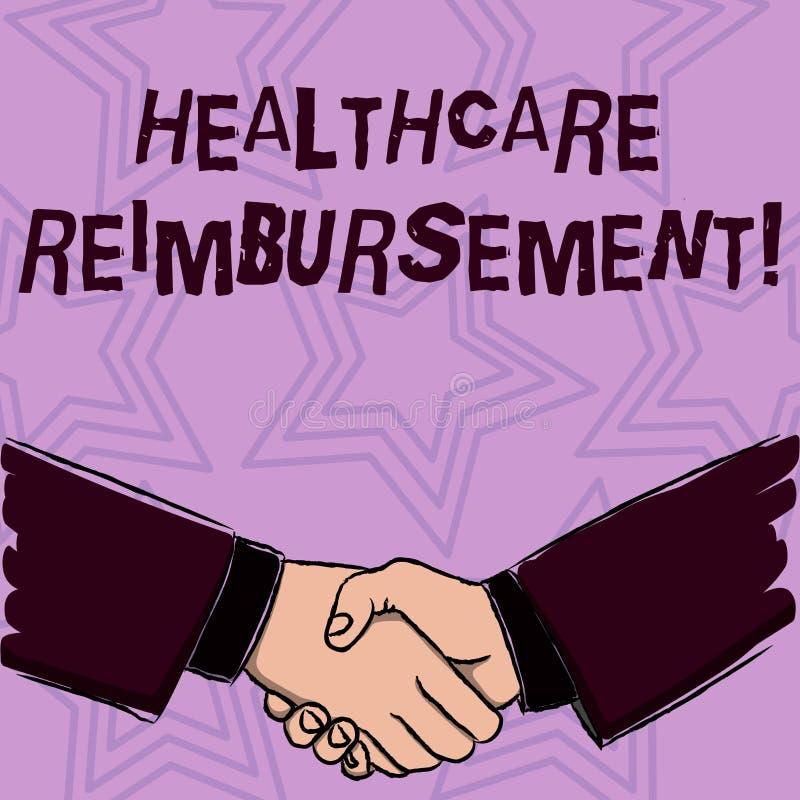 Palabra que escribe el reembolso de la atención sanitaria del texto Concepto del negocio para compensar alguien para fuera de cos stock de ilustración