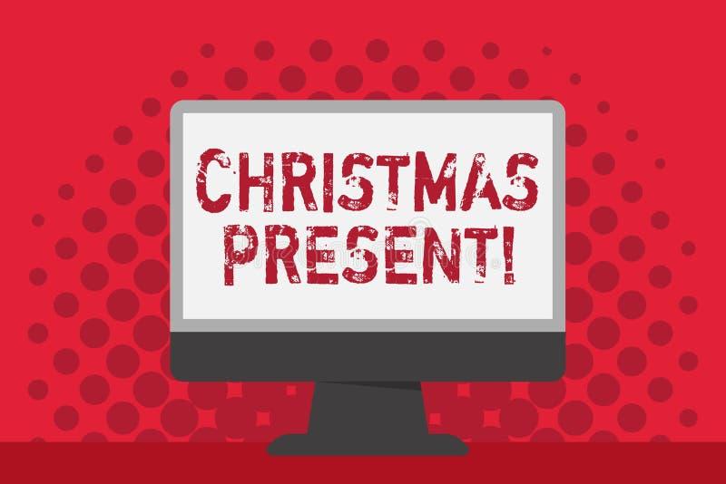 Palabra que escribe el regalo de Navidad del texto Concepto del negocio para presentado como regalo dado en conmemoración de espa ilustración del vector