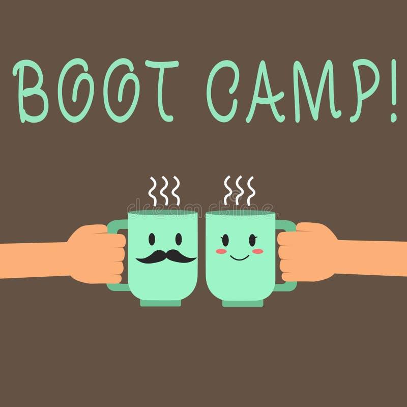 Palabra que escribe el texto Boot Camp Concepto del negocio para el campo de entrenamiento militar para la aptitud dura de la dis ilustración del vector