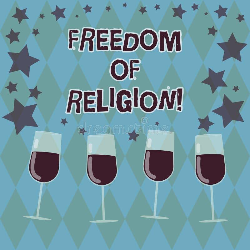 Palabra que escribe el texto libertad Concepto del negocio para que la derecha practique cualquier religión una elige llenado libre illustration