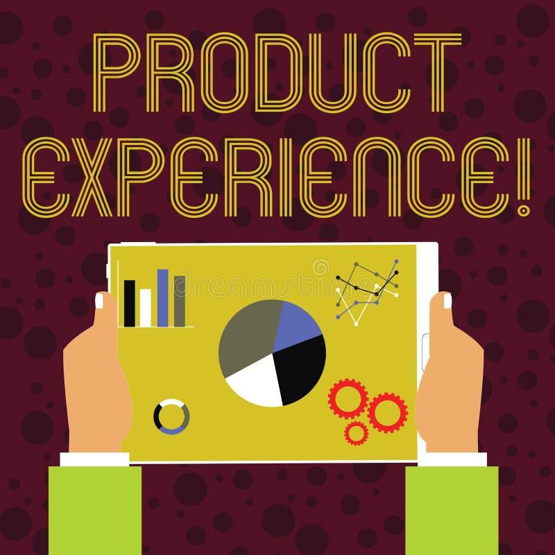 Palabra que escribe experiencia del producto del texto Concepto del negocio para el valor total de un producto o el servicio a la stock de ilustración