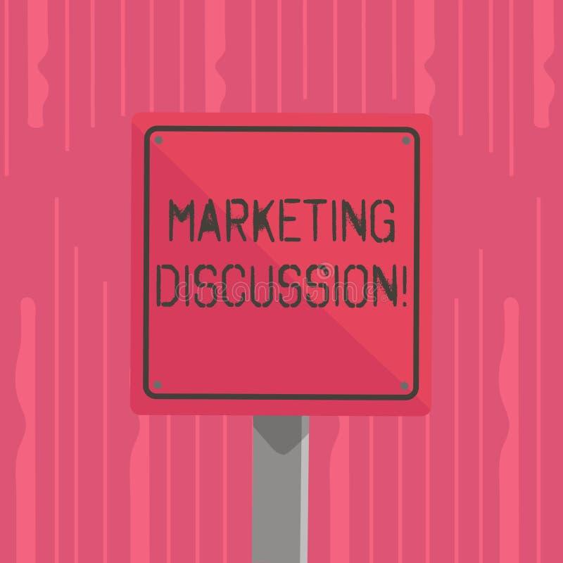 Palabra que escribe la discusión del márketing del texto Concepto del negocio para la deliberación de la compañía para promo ilustración del vector